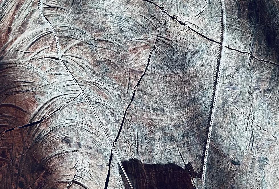 Cianita Azul corrente de prata moldura curta