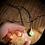 Thumbnail: Esmeralda e Quartzo Rosa escapulário de prata oxidado