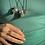 Thumbnail: Pirita corrente de prata longa oxidada