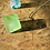 Thumbnail: Fluorita Octaedra Verde Grande corrente de prata longa