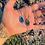 Thumbnail: Lápis Lazuli e Nefrita escapulário moldura de prata