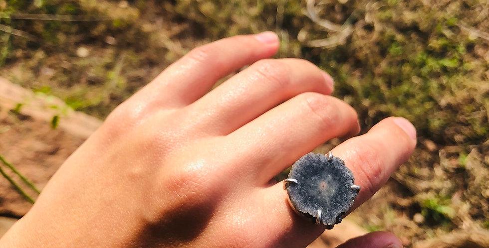 Ágata anel de prata
