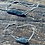 Thumbnail: Cianita Preta tornozeleira de prata