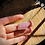 Thumbnail: Turmalina Rosa corrente de prata curta com extensor
