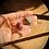 Thumbnail: Turmalina Rosa e Zoisita com Rubi escapulário de prata