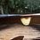 Thumbnail: Ágata de Fogo corrente de prata oxidada curta com extensor