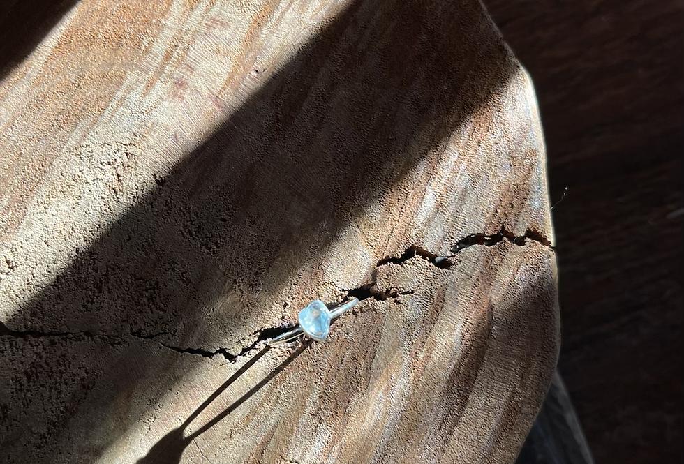 Água Marinha anel de prata