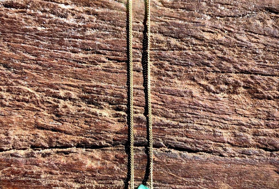 Esmeralda corrente de ouro curta