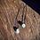 Thumbnail: Topázio Azul escapulário de prata oxidado