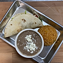 TACOS WITH RICE & BEANS