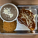 ENCHILADA WITH RICE AND BEANS