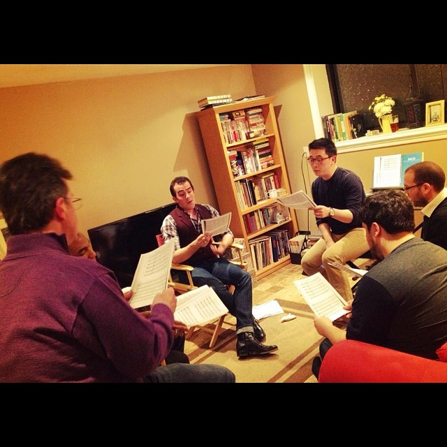 Instagram - The full sextet, hard at work! #renmen