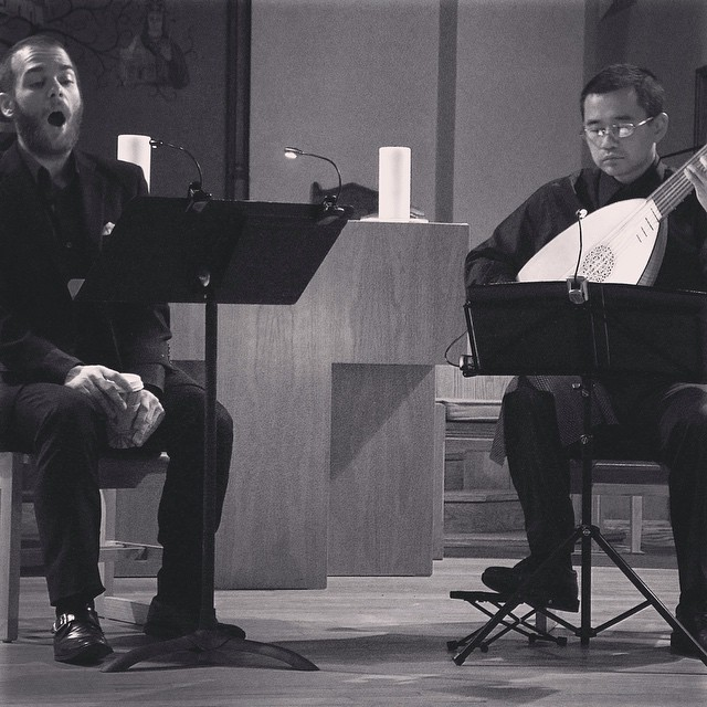 Instagram - HN and Hideki at last night's chamber music series! #renmenlutes