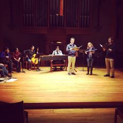Rehearsal with Ensemble Musica Human