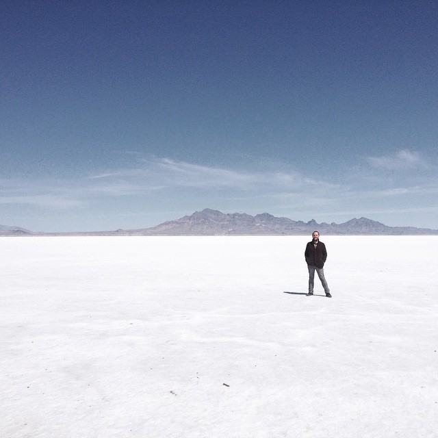 Bonneville Salt Flats, Utah, where I met Roy, my guardian angel.jpg