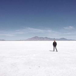 Bonneville Salt Flats, Utah, where I met Roy, my guardian angel.jpg
