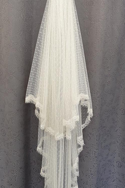 San Patrick Lace Veil, Ivory