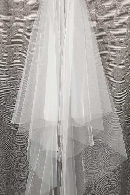1/2 Circular veil white