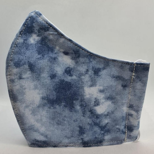 Blue Tie Face Mask