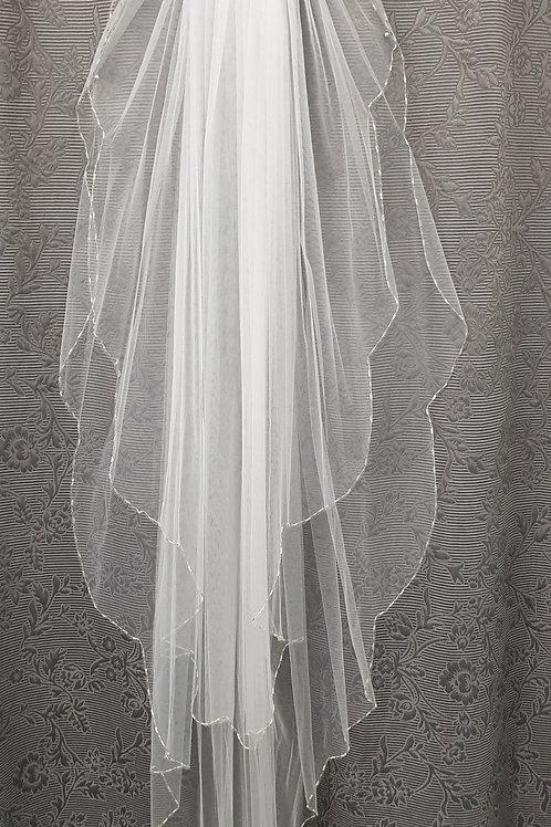 115cm White veil