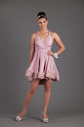Mini 2 Row Rosette Goddesss Dress