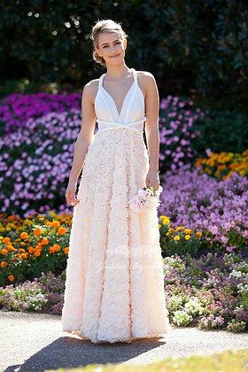 Ballgown Full Rosette Goddess Gown