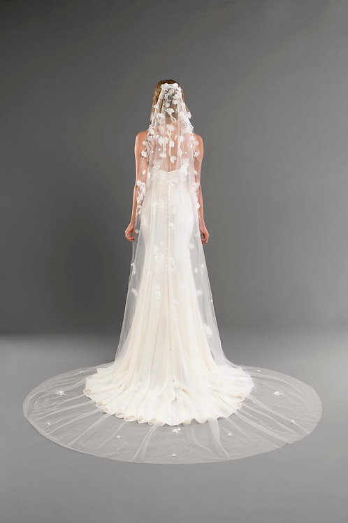 3D 1 Layer Veil, Ivory