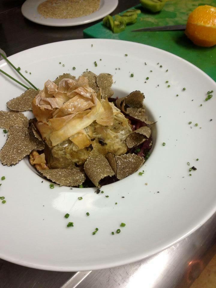 Patata ahumada con trufa fresca (V)
