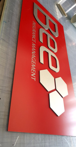 CNC routed ACP signs