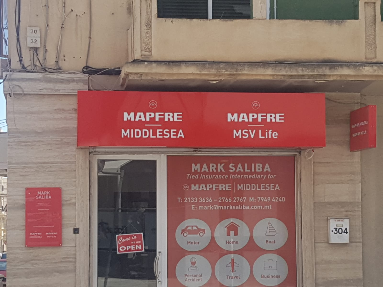 Shop facade signs Gzira