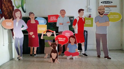 PVC free standing life size cut outs wit