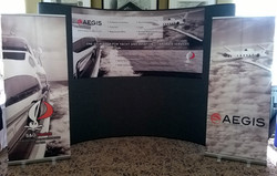 Backdrop and roll-ups