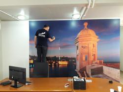High resolution printed mural