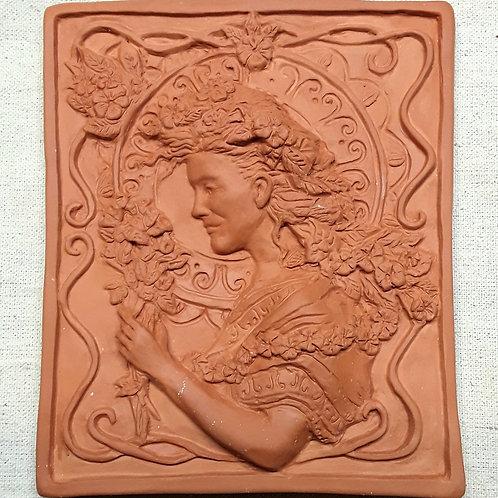 'the gardener' terracotta tile
