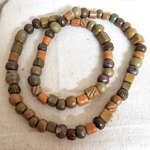 70 Beads in Earth Colors