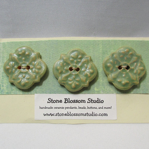 medallion - set of 3 buttons
