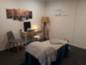 Treatment room at Allyson Sturrock Physiotheray