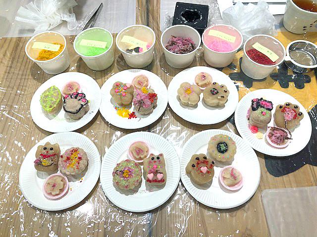 イベント参加の方々が作られた和菓子