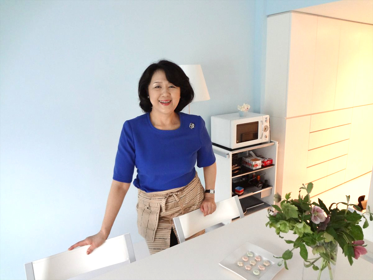 Culinary Researcher Machiko Chiba at the Studio