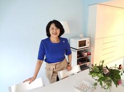 料理研究家千葉真知子 スタジオにて