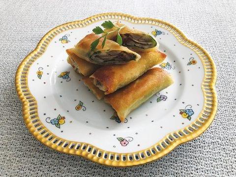 ズッキーニとエビの焼き物