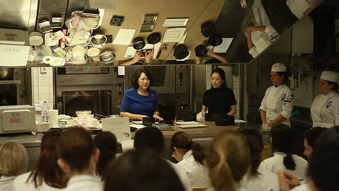 Teaching Japanese Sweets at Le Cordon Bleu Cooking School in Paris