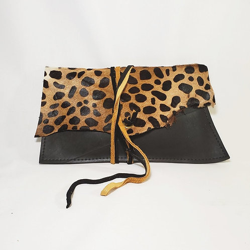 Tammy Rice Earl Clutch Bag in Leopard