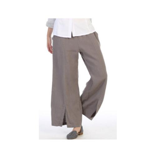 Focus French Linen Wide Leg Pant