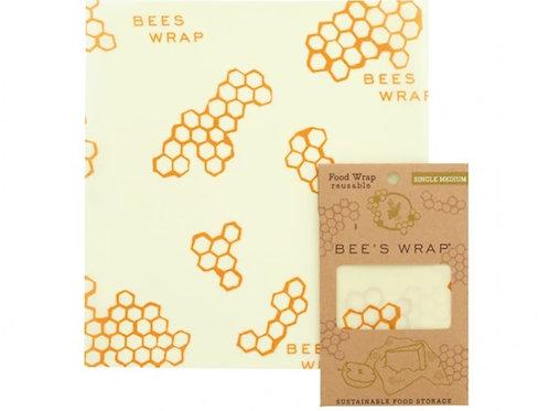 Beeswax Food Wrap (Medium Size) in Honeycomb