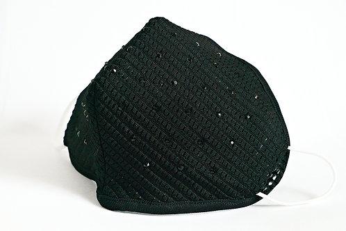 Solid Sparkletime Mask in Black