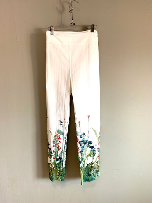 Lisette L. Slim Ankle Field Flower Twill Pant