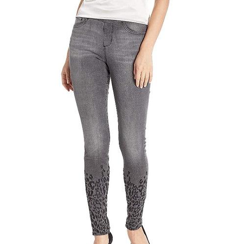 Jag Jeans Women's Maya Skinny Pull on Jean W/Leopard Embroidery