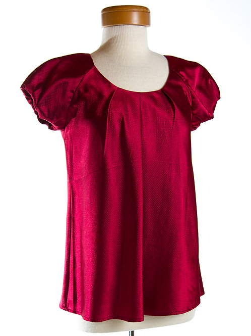 Casual Studio Top in Ruby Red