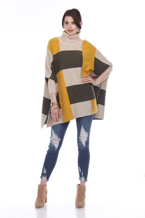 Sisters High Neck Poncho